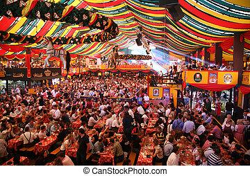 oktoberfest, ottobre, 16, -, monaco, monaco, germania, 2007,...