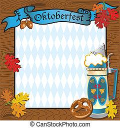 oktoberfest, parti, inbjudan