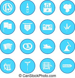 Oktoberfest party black icon blue