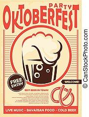 Oktoberfest party poster design invitation