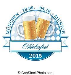 Oktoberfest pictogram - Oktoberfest munich beer festival...