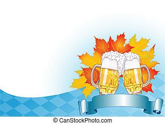 oktoberfest, plano de fondo, celebración