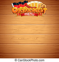 Oktoberfest Poster or Menu Template. Vector Image