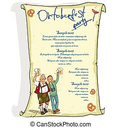 Oktoberfest poster with sample text