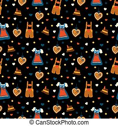 Oktoberfest seamless vector pattern background