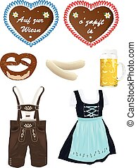 oktoberfest set - lovely traditional set of realistic...