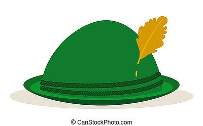 oktoberfest, sombrero verde