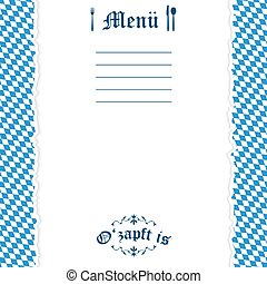 oktoberfest, strappato, carta, fondo, menu