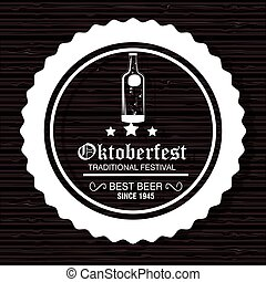 oktoberfest traditional festival emblem design vector illustration eps 10