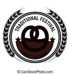 oktoberfest traditional festival emblem design vector...