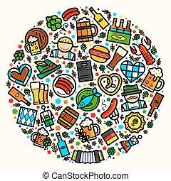 oktoberfest, vecteur, illustration