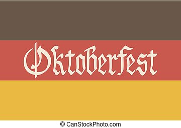 Oktoberfest vector illustration. background of the flag of Germany.