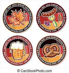 Oktoberfest vector set of drink coasters