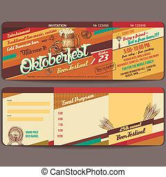 Oktoberfest vintage invitation card
