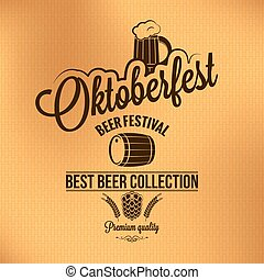 oktoberfest vintage poster vector background