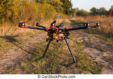 Oktokopter, copter, drone - Drone on a background of a ...