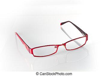 okular, czerwony biel