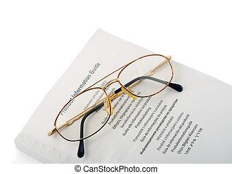 okular, książka