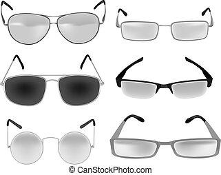 okular, okulary, wektor