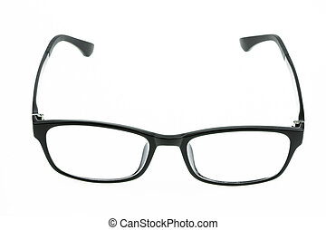 okulary, do góry, odizolowany, zamknięcie, oko