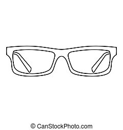 okulary, ikona, szkic, styl