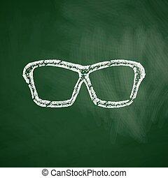 okulary, ikona