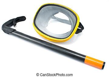 okulary ochronne, nurkowanie, snorkel