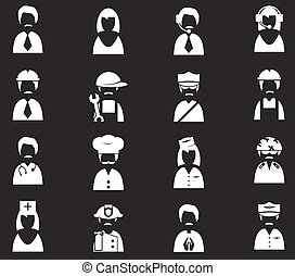 okupacja, komplet, ikony