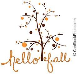 olá, outono, árvore