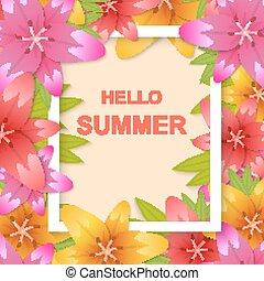 olá, verão