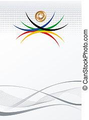 olímpico, oro, resumen, juegos, plano de fondo, medalla