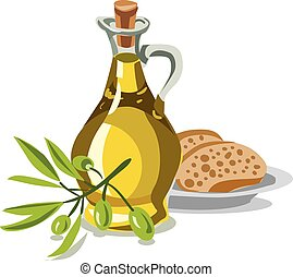 olívaolaj, bread