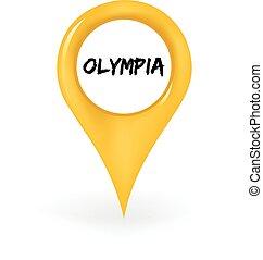 olümpia, elhelyezés