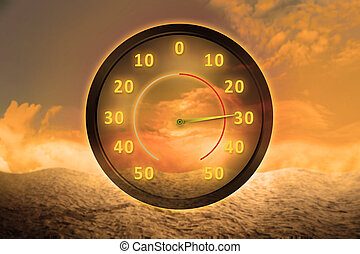 ola de calor, concepto