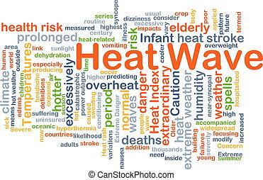 ola de calor, plano de fondo, concepto