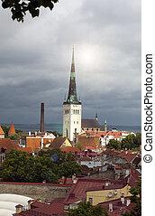 olaf, estónia, st, tallinn, (oleviste), church.