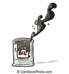 olaj dob, karikatúra