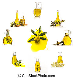 olaj, elszigetelt, állhatatos, olajbogyó, gyűjtés, rendkívüli, szűz