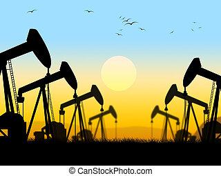olaj jó, nonrenewable, felderítés, fűtőanyag, látszik