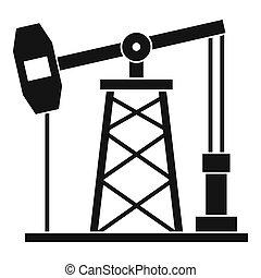 olaj, mód, ikon, fúrótorony, egyszerű