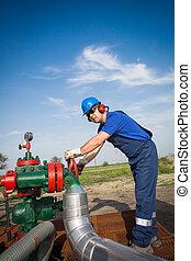 olaj munkás