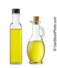 olaj, palack, két