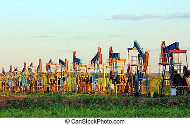 olaj pumpa, dolgozó, evez