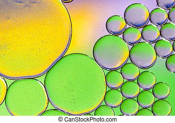 olaj, színes, víz, háttér, savanyúcukorka, surface.
