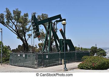 olaj, város, orrárboczászló pumpa