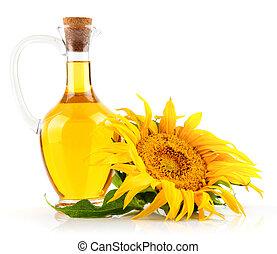 olaj, virág, napraforgó