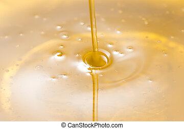 olajbogyó, öntés, olaj, folyékony