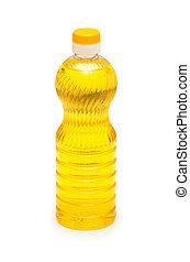 olajbogyó, fehér, olaj, elszigetelt, palack
