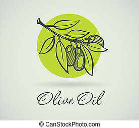olajbogyó, hand-drawing
