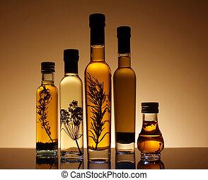 olajbogyó, oil., palack, gyűjtés